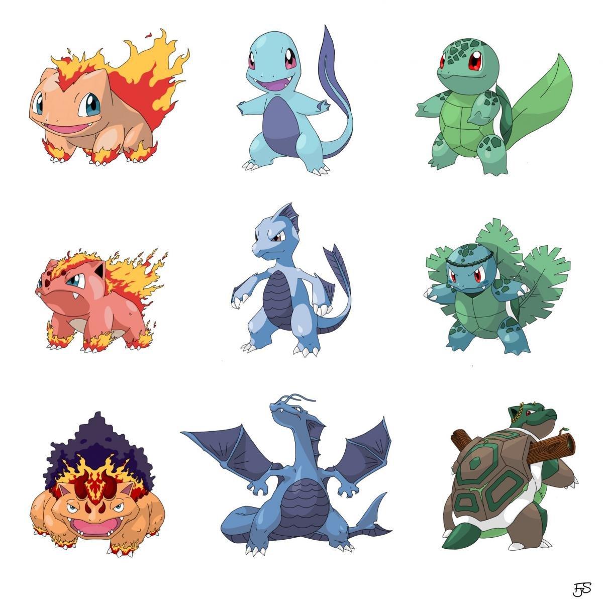 Pok mon un artista ha cambiado el tipo de todos los - Pokemon perle evolution ...
