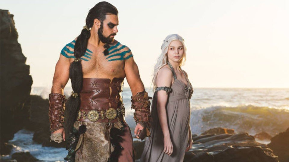 Juego de Tronos: Khal Drogo reacciona al desnudo de Daenerys