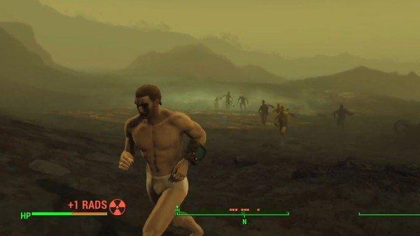 Fallout 4: Un jugador supera la zona más radiactiva totalmente desnudo