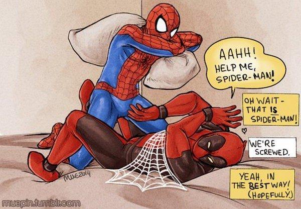 Los fans se imaginan cómo sería Spiderman vs Deadpool