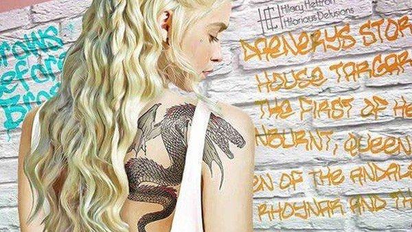 Juego de Tronos: Sus personajes, tatuados al estilo urbano