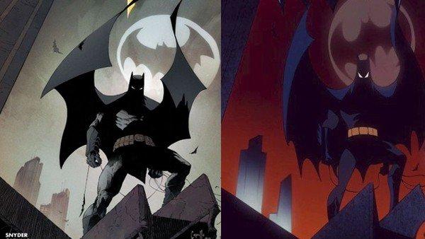 Dibujan las portadas de los cómics de Batman al estilo de la serie animada