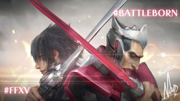 Final Fantasy XV y Battleborn se unen en unas ilustraciones oficiales