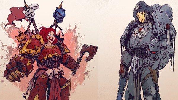 Unos fanarts trasladan a las princesas Disney al universo de Warhammer 40K