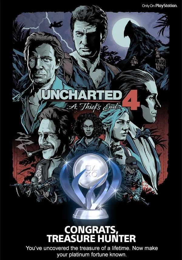 Uncharted 4: Sony felicita de esta peculiar forma la obtención de uno de sus trofeos