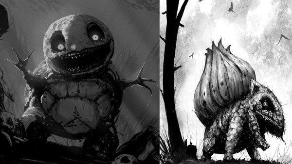 Los Pokémon se convierten en criaturas terroríficas en unos fanarts
