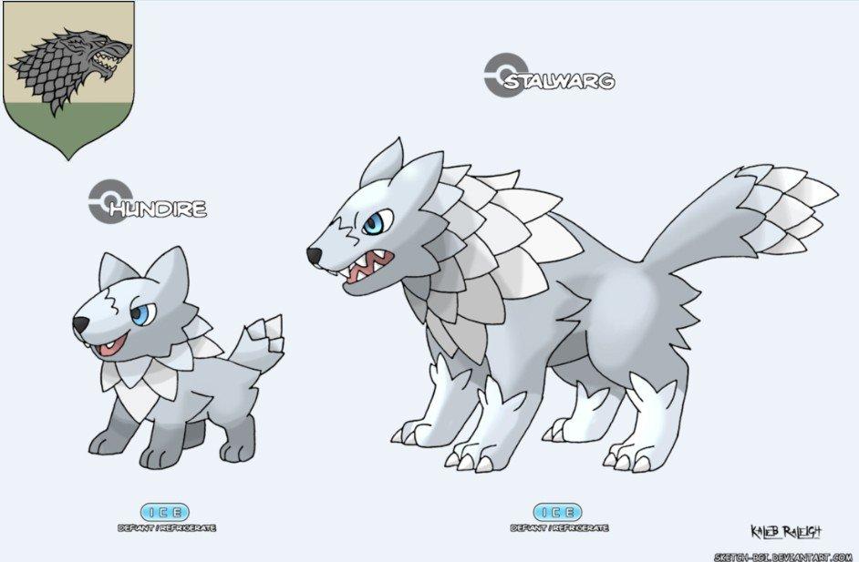 Las casas de Juego de Tronos tendrían estos Pokémon