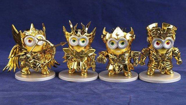 Los Minions se convierten en Caballeros del Zodiaco con estas figuras