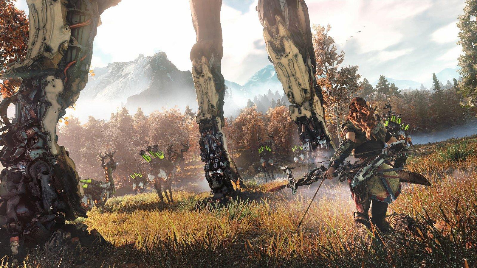 Horizon: Zero Dawn muestra nuevas localizaciones en un gameplay