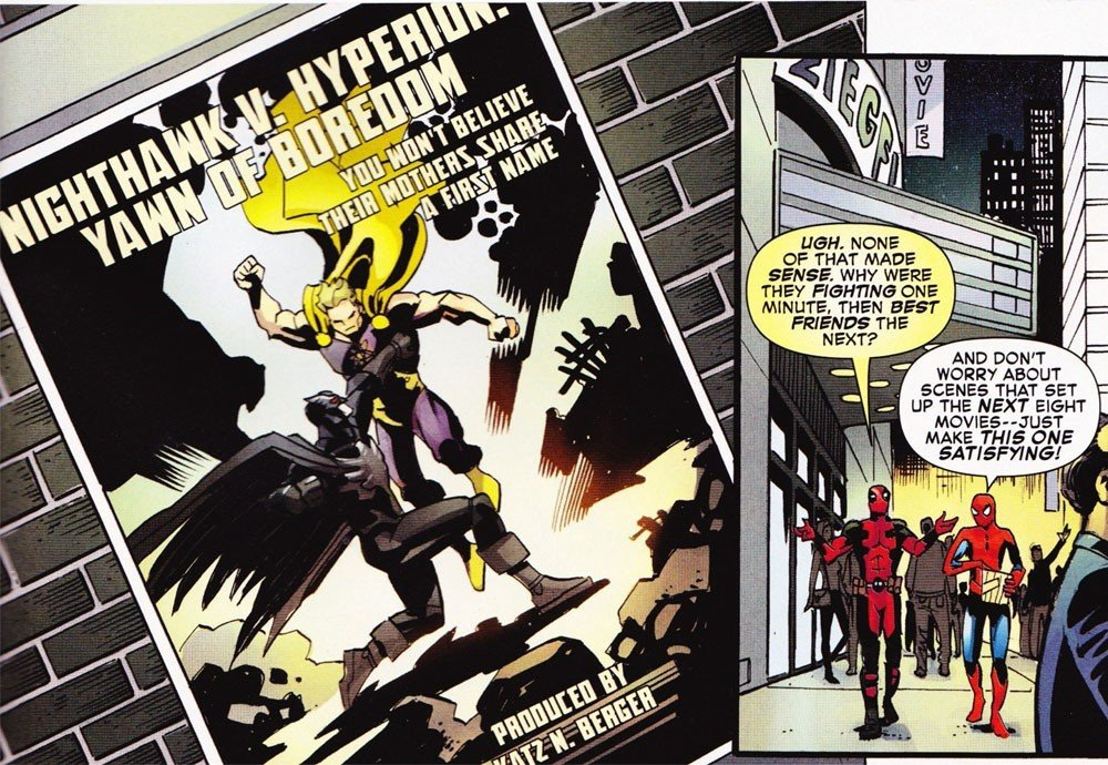 Marvel se burla de Batman v Superman con Spiderman y Deadpool