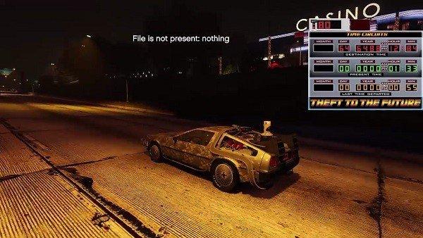 Grand Theft Auto V: Un mod permite conducir el Delorean de Regreso al Futuro