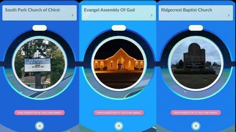 Pokémon GO está mandando a los jugadores a la iglesia