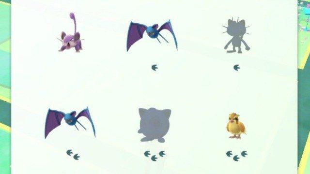 Pokémon GO podría indicar la distancia en lugar de las huellas