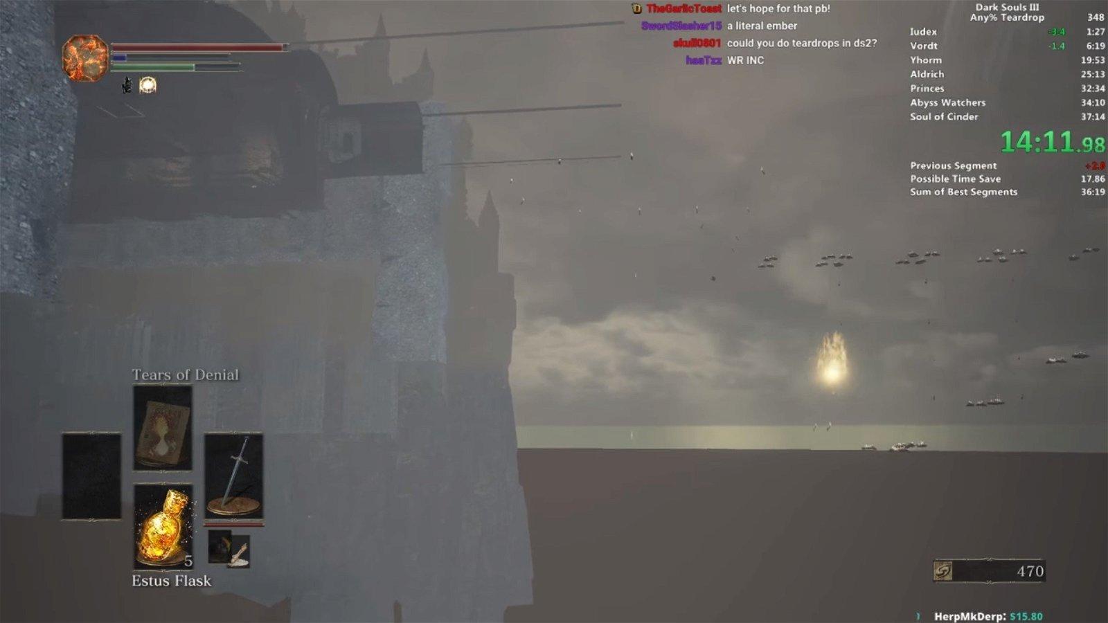 Dark Souls 3: Un speedrunner establece un nuevo récord tras dejar el juego roto con un glitch