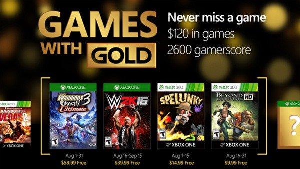 Games with Gold desvela sus juegos gratuitos para agosto de 2016