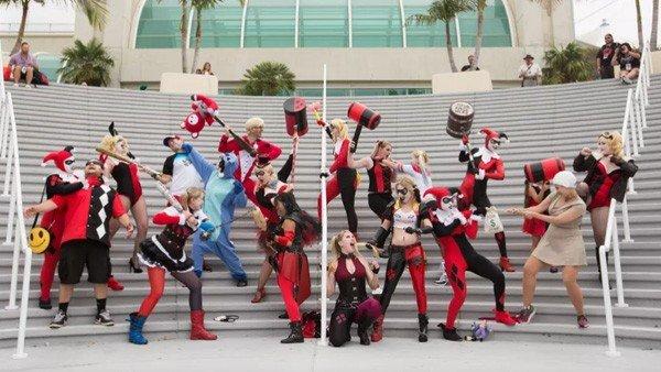 Harley Quinn tomó por asalto la Comic-Con de San Diego