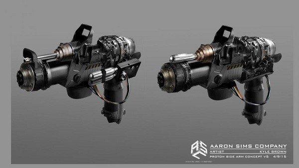 Cazafantasmas 3 revela el arte conceptual de sus armas