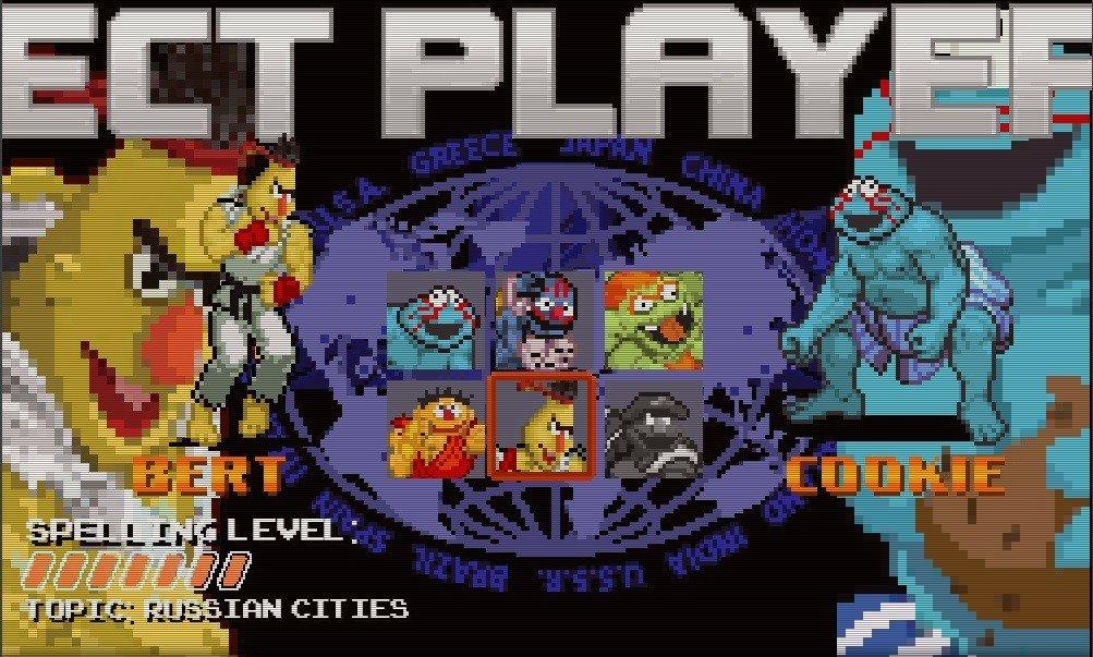 Sesame Street Fighter: El juego que pone a los héroes de tu infancia a partirse la cara