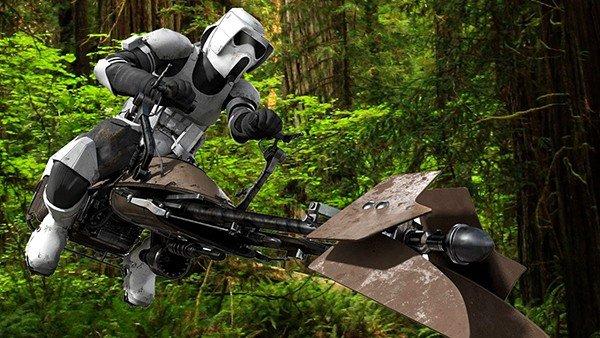Star Wars: La moto deslizadora speeder se convierte en realidad