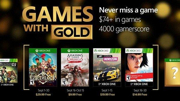 Games with Gold desvela sus juegos gratuitos para septiembre de 2016