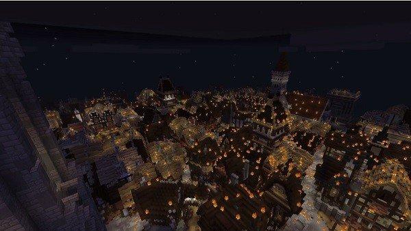 Minecraft vuelve a recrear el Gran Incendio de Londres