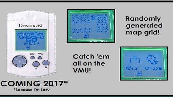 Pokémon GO: Tratan de adaptar el juego a la tarjeta de memoria de Dreamcast