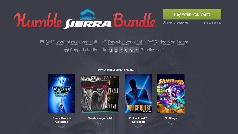 Humble Bundle inicia una nueva oleada de juegos baratos protagonizada por Sierra