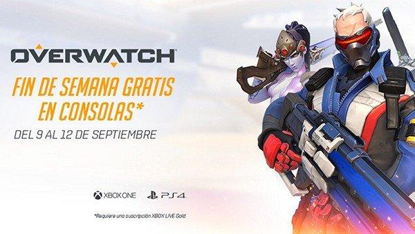 Overwatch podrá jugarse gratis en consolas del 9 al 12 de septiembre