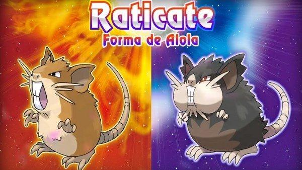 Pokémon Sol y Pokémon Luna presentan una forma de alola para Raticate entre otras muchas novedades