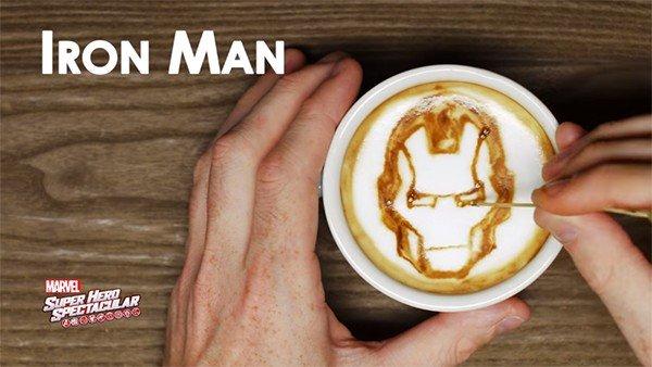Marvel y el Arte Latte: Los superhéroes se cuelan en tu café
