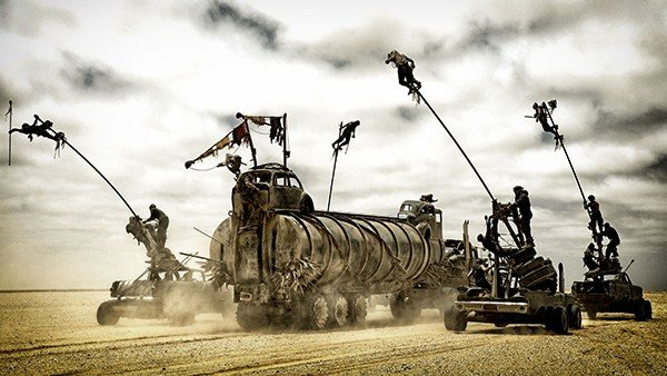 Mad Max: Furia en la Carretera luce así sin efectos digitales