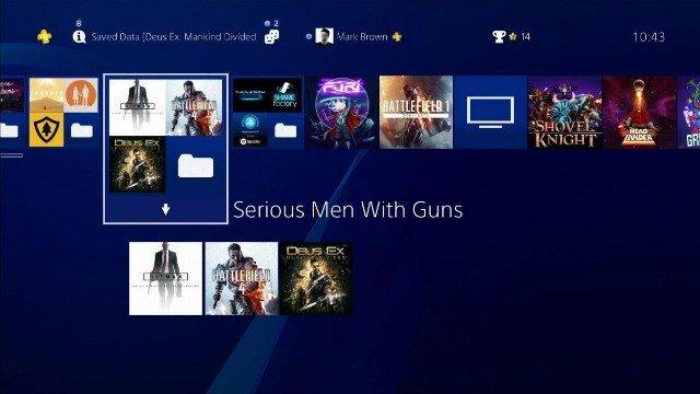 Los usuarios ya sacan provecho a las carpetas de PlayStation 4