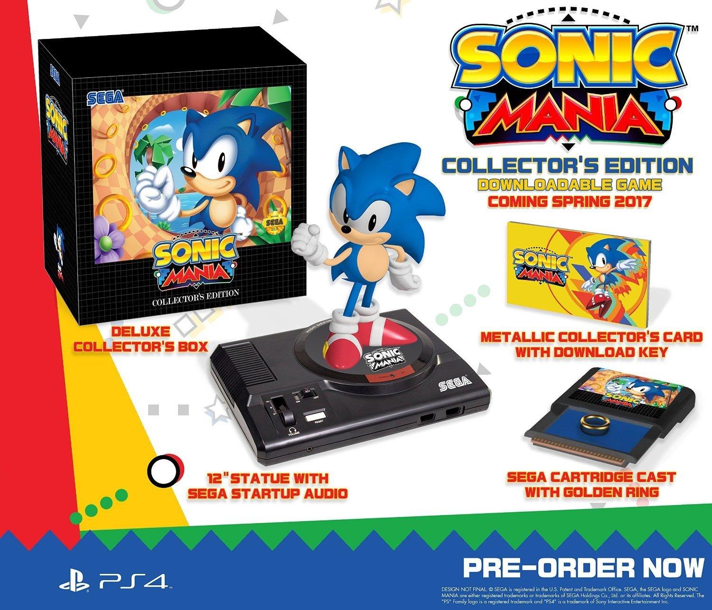Sega anuncia una edición coleccionista de Sonic Mania
