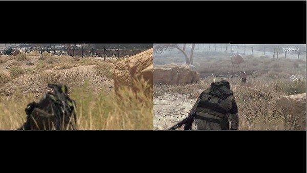Metal Gear Survive: Comparan los escenarios con The Phantom Pain