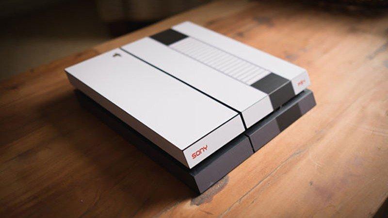 Un artista personaliza una PlayStation 4 al estilo NES