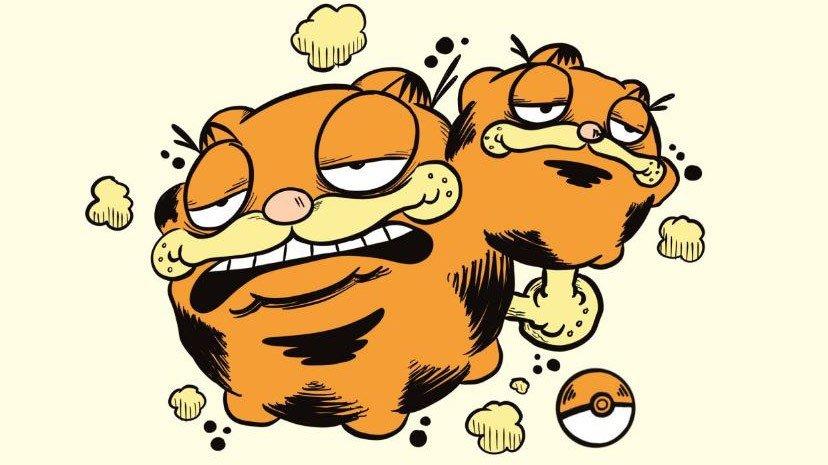 Pokémon y Garfield se funden en estos divertidos fanarts