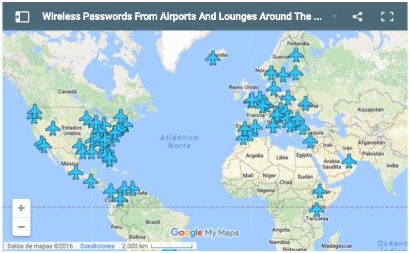 Una aplicación reúne contraseñas Wi-Fi de aeropuertos de todo el mundo
