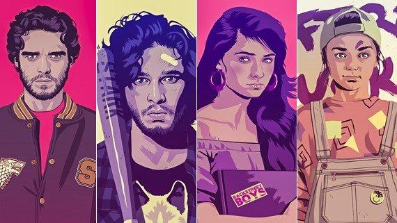 Juego de Tronos: Los Stark son reimaginados por diversos artistas