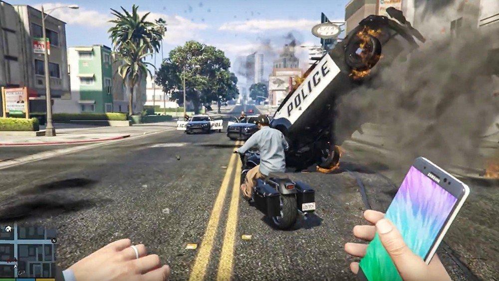 Grand Theft Auto V incorpora un explosivo Galaxy Note 7 con un mod