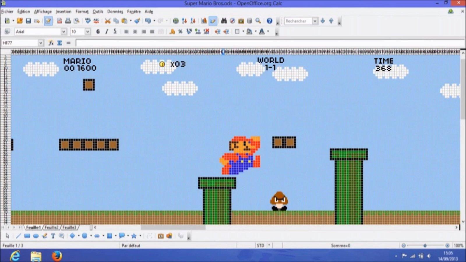 Super Mario Bros. recreado en Excel es lo mejor que verás hoy