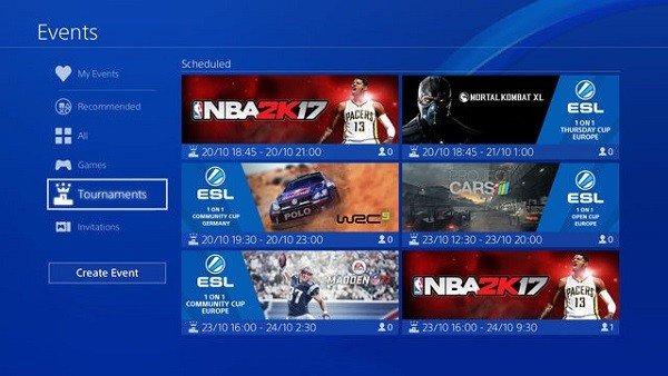 E-Sports: PlayStation 4 incluirá una función para fomentar competiciones online