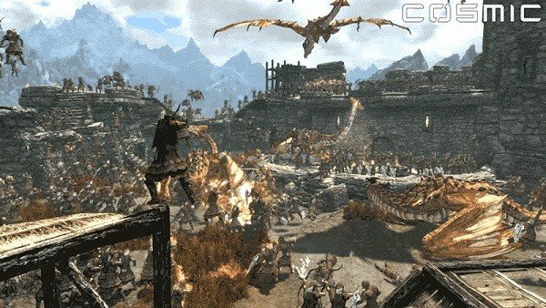 The Elder Scrolls V: Skyrim - Special Edition permite celebrar una épica batalla con 100 dragones