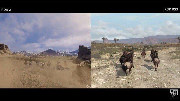 Red Dead Redemption 2: Comparan sus gráficos con los de la primera entrega