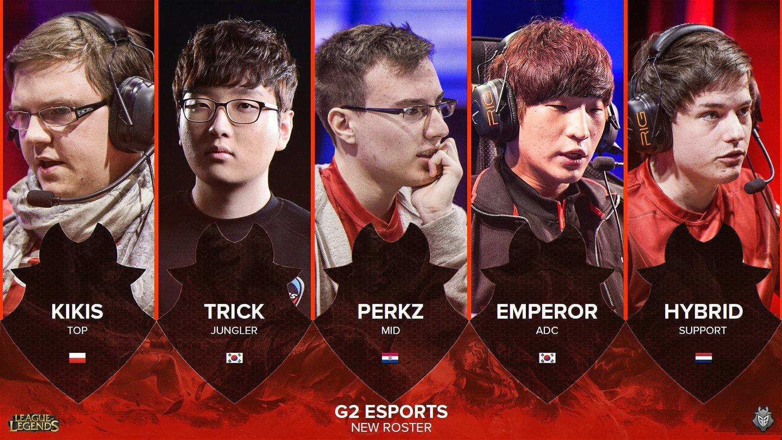 E-Sports: G2 renueva a su plantilla de League of Legends al completo