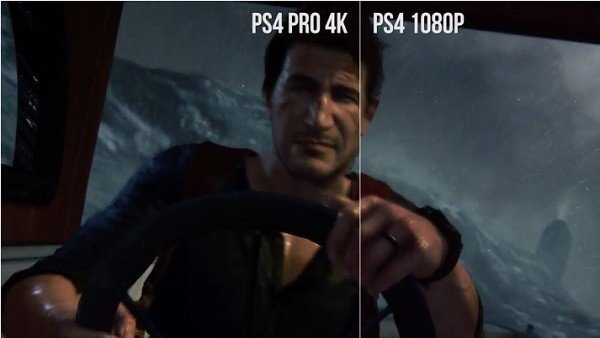 Uncharted 4: Comparan sus gráficos de PlayStation 4 con los de PlayStation 4 Pro