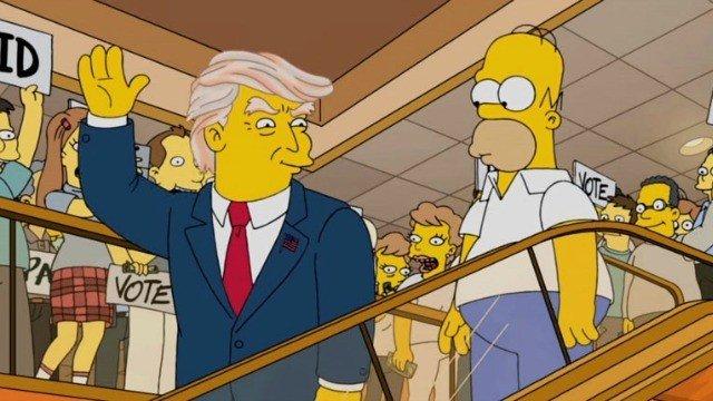 Los Simpson ya predijeron que Donald Trump sería presidente