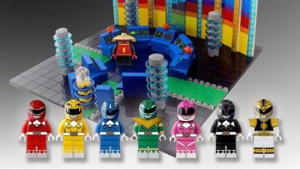 Los Power Rangers cuentan con unas figuras LEGO diseñadas por un fan
