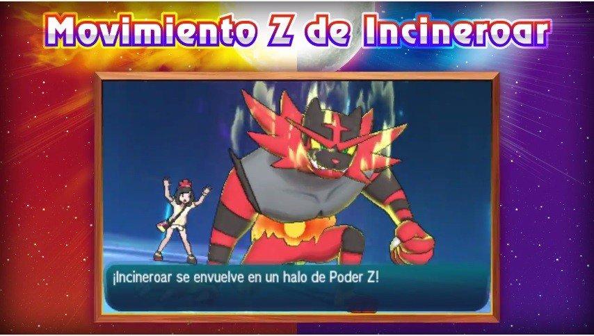 Pokémon Sol y Luna presenta los movimientos Z de sus Pokémon iniciales