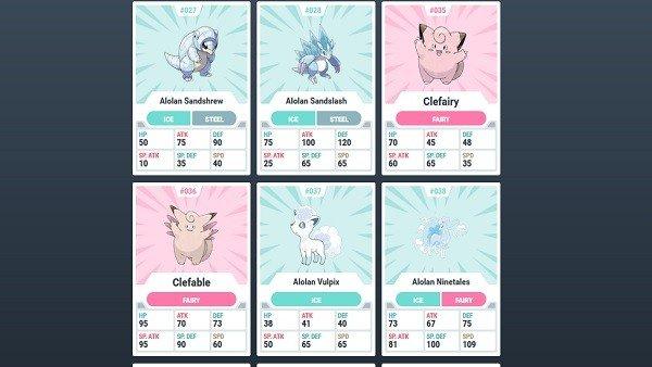 Pokémon Sol y Luna: Crean una base de datos con la información de la Pokédex del juego
