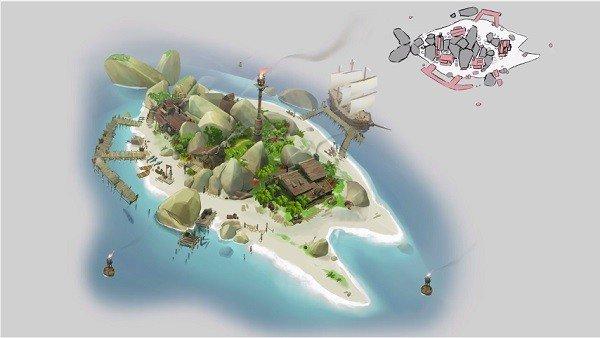 Sea of Thieves enseña el proceso de creación de las guaridas pirata